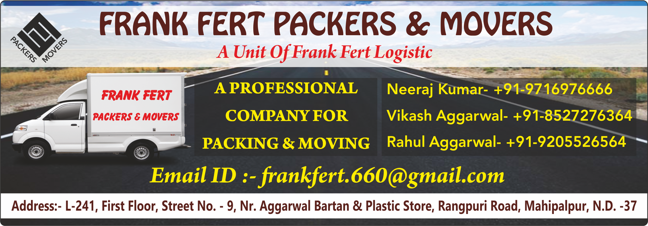FRANK FERT PACKERS & MOVERS